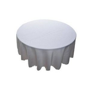 "114"" Round organic cotton tablecloth W/ 38"" 1-Color Silk Screen"