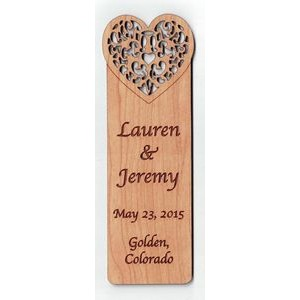 "1"" x 3"" - Hardwood Bookmark - Customized Hardwood Shapes - Laser Engraved - USA-Made"