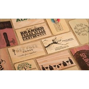 "2"" x 3.5"" - Wood Veneer Business Cards - 1 Color Print - USA-Made"