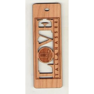 "1.5"" x 6"" - Hardwood Bookmark - Customized Hardwood Shapes - Laser Engraved - USA-Made"
