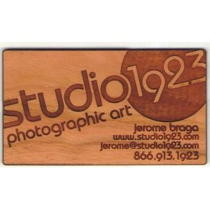 "2"" x 3.5"" - Hardwood Business Cards - Customized Shapes - Laser Engraved - USA-Made"