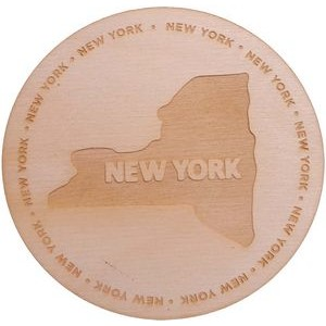 "3.5"" - Engraved Baltic Birch Promotional Coasters - USA-Made"