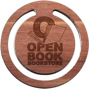 Wooden Bookmark Circular