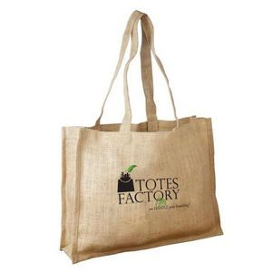 Jute - Unlaminated Burlap Shopping Bag with Self Fabric