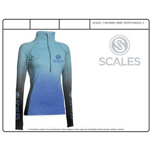 Long Sleeve Ragland Sleeve 1/4 Zip Neck Shirt