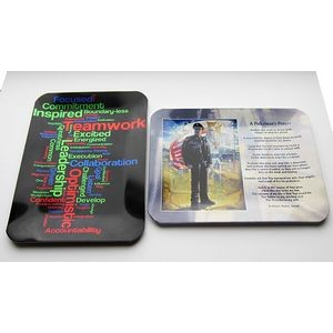 "Sublimation Commemorative Tray/ Award Plaque - Full Color (3 3/4""x4 7/8"")"