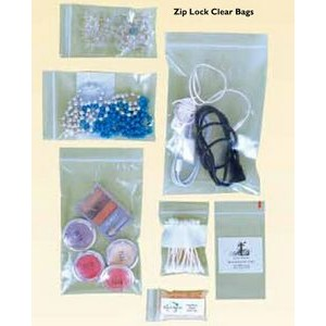 "Stock Plain Zip Lock Clear Bag (6"" x 8"")"
