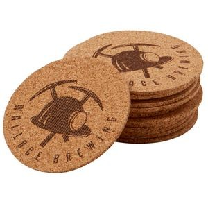"3 1/2"" Round Coaster - Natural Edges"