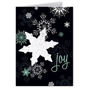 Seed Paper Shape Holiday Greeting Card - Joy (Snowflake)