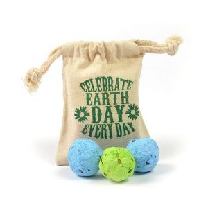Earth Day Seed Bomb Bag (3 Bombs)