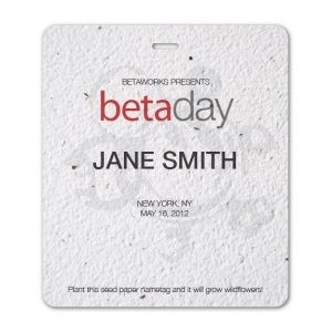 Large Seed Paper Name Badge