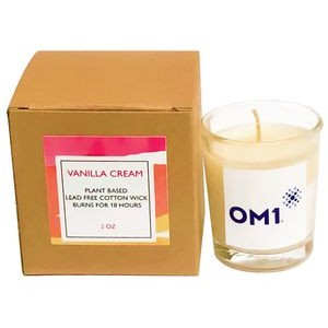 Vanilla Cream Plant Based Candle with Box