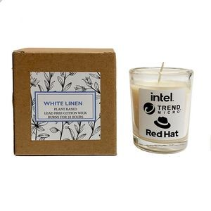 White Linen Plant Based Candle with Box
