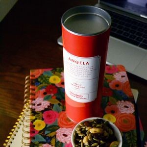 "REAL ESTATE - 8"" Custom Designed Canister of Nuts or Trail mix"
