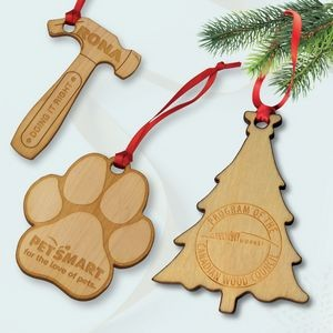 Custom Shape Wood Ornaments