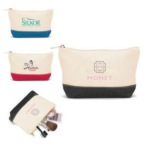 Cotton Canvas Cosmetics Bag