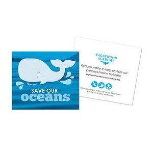Save Our Oceans Plantable Whale Card, 2-Sided